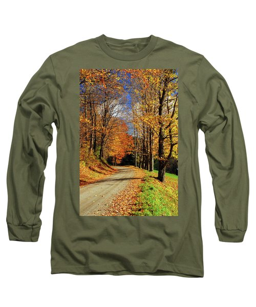 Autumn Country Road Long Sleeve T-Shirt