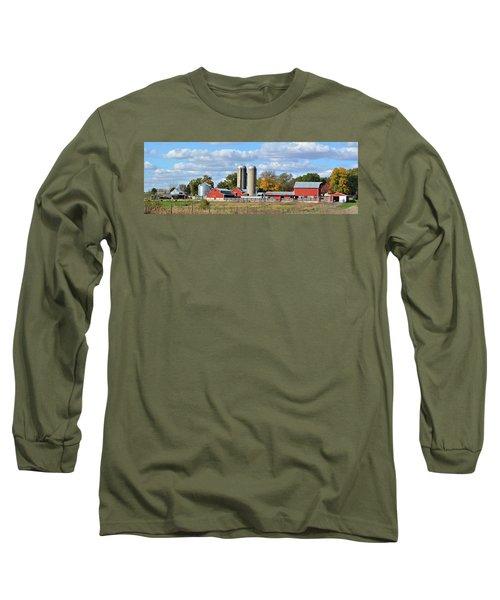 Autumn Elk Farm Long Sleeve T-Shirt by Bonfire Photography