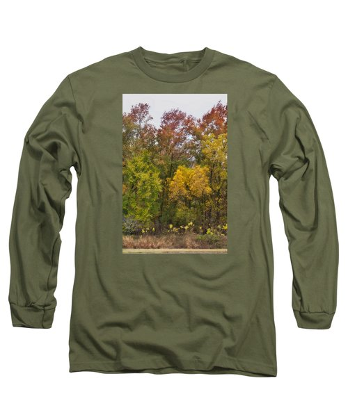 Long Sleeve T-Shirt featuring the photograph Autumn Explosion by Joan Bertucci