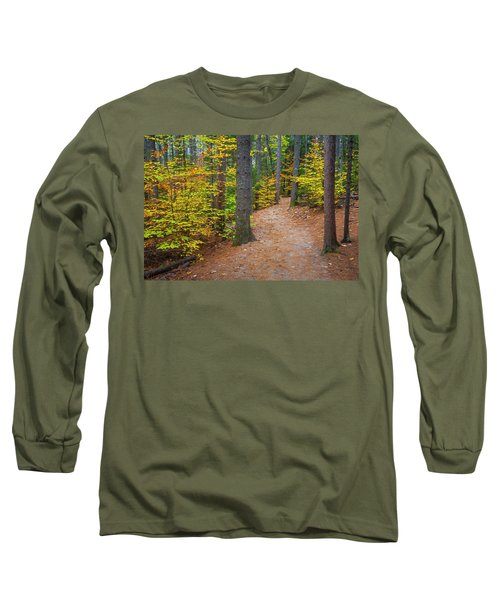 Long Sleeve T-Shirt featuring the photograph Autumn Fall Foliage In New England by Ranjay Mitra