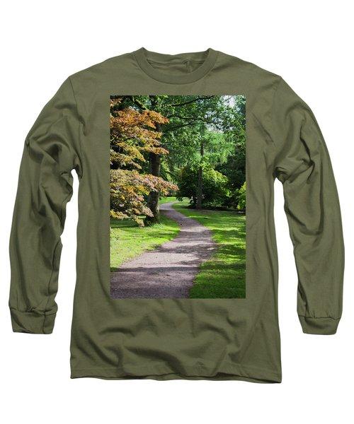 Autumn Forest Path Long Sleeve T-Shirt