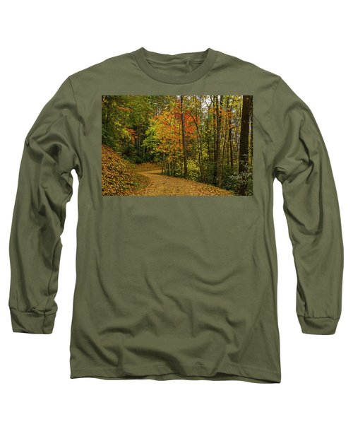 Autumn Forest Road. Long Sleeve T-Shirt