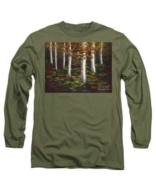 Long Sleeve T-Shirt featuring the digital art Autumn Ghosts by Amyla Silverflame
