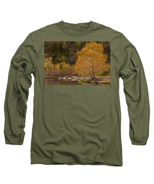 Long Sleeve T-Shirt featuring the photograph Autumn Glory In Beaver's Bend by Tamyra Ayles