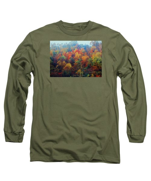 Long Sleeve T-Shirt featuring the photograph Autumn Hill Aglow by Diane Alexander