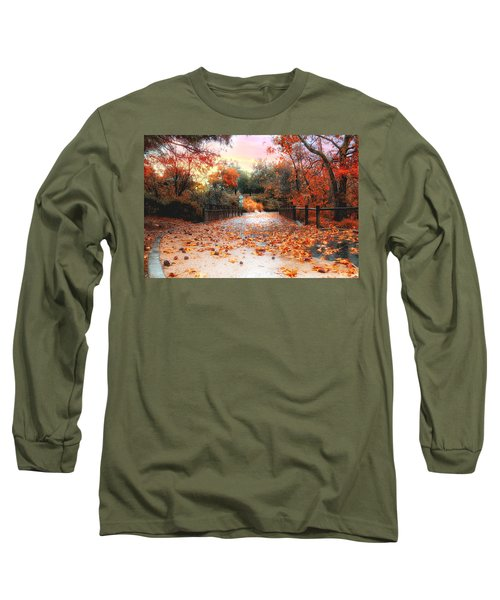 Autumn In Discovery Lake Long Sleeve T-Shirt