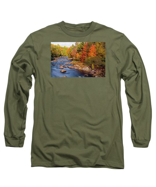 Autumn In New Hampshire Long Sleeve T-Shirt by Betty Denise