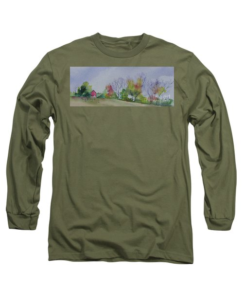 Autumn In Rural Ohio Long Sleeve T-Shirt by Mary Haley-Rocks