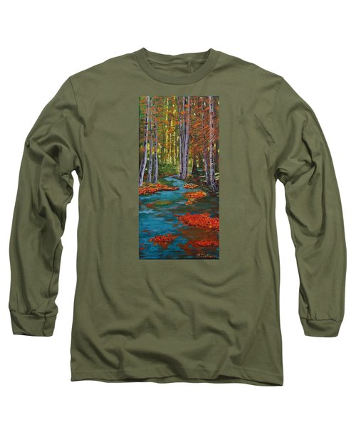 Autumn In The Air Long Sleeve T-Shirt by Mike Caitham