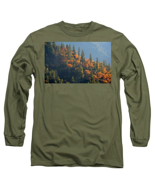Autumn In The Feather River Canyon Long Sleeve T-Shirt by AJ Schibig