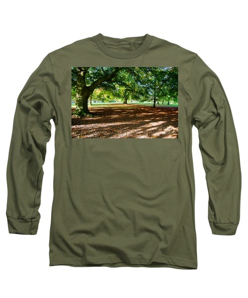 Autumn In The Park Long Sleeve T-Shirt by Colin Rayner