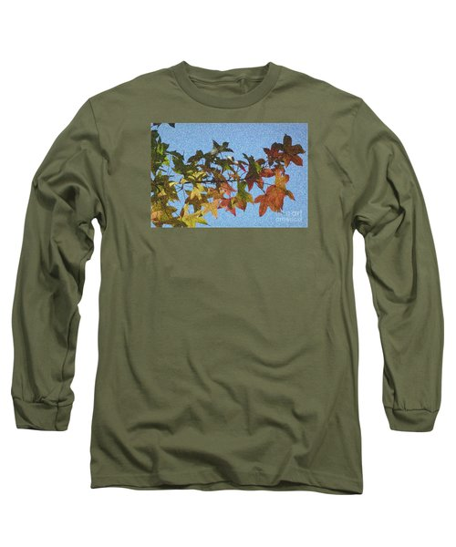 Long Sleeve T-Shirt featuring the photograph Autumn Leaves 3 by Jean Bernard Roussilhe