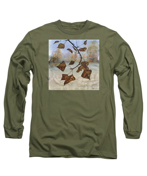 Autumn Leaves Long Sleeve T-Shirt by Carolyn Doe