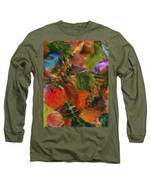 Long Sleeve T-Shirt featuring the digital art Autumn Leaves by Klara Acel