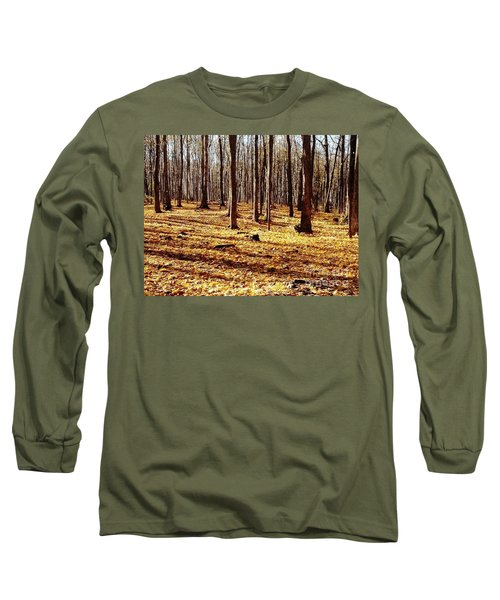 Long Sleeve T-Shirt featuring the photograph Autumn Leaves by Vicky Tarcau