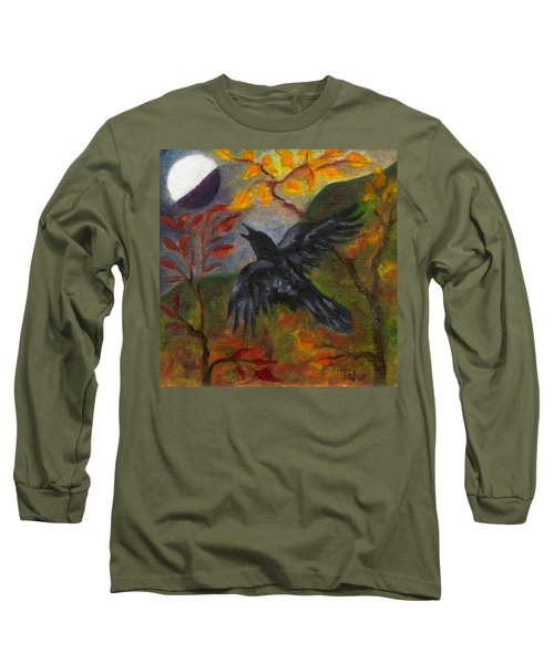 Autumn Moon Raven Long Sleeve T-Shirt