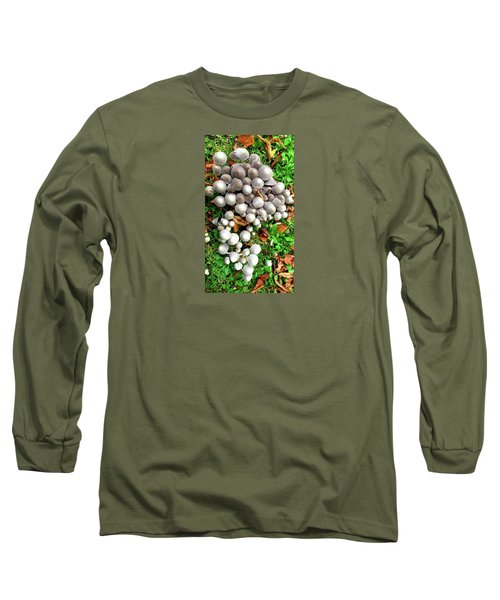 Autumn Mushrooms Long Sleeve T-Shirt by Nareeta Martin