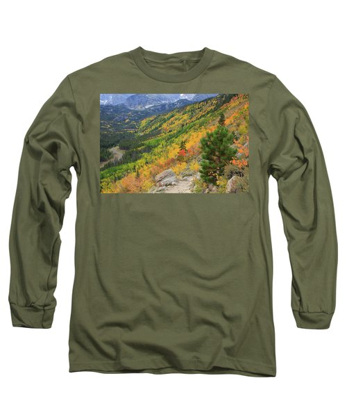 Long Sleeve T-Shirt featuring the photograph Autumn On Bierstadt Trail by David Chandler