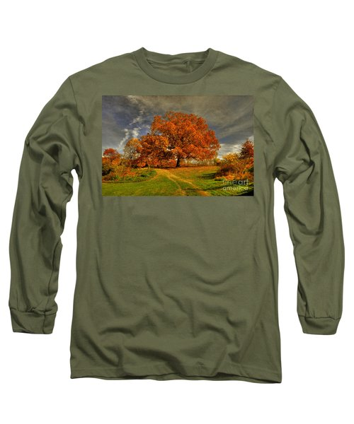 Autumn Picnic On The Hill Long Sleeve T-Shirt by Lois Bryan