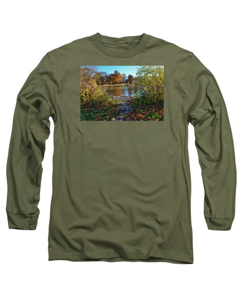 Long Sleeve T-Shirt featuring the photograph Autumn Pond by Nikki McInnes