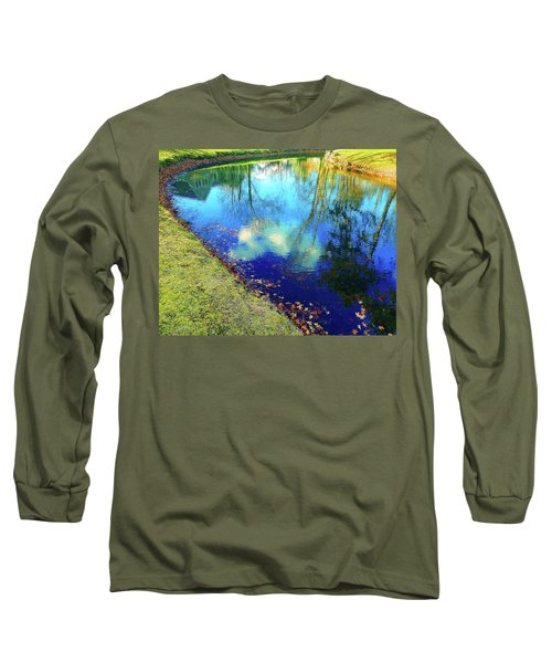 Autumn Reflection Pond Long Sleeve T-Shirt