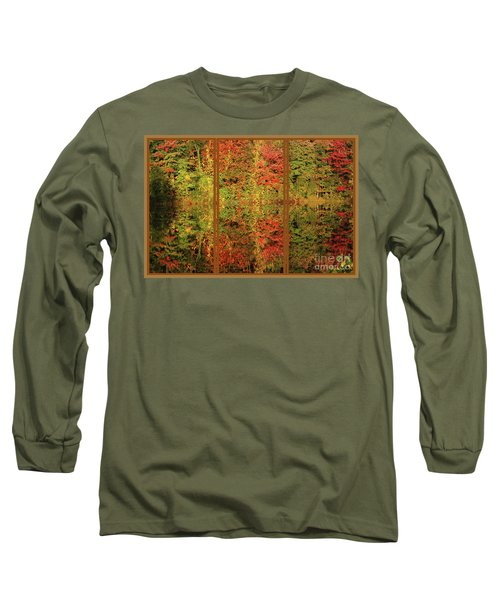 Autumn Reflections In A Window Long Sleeve T-Shirt