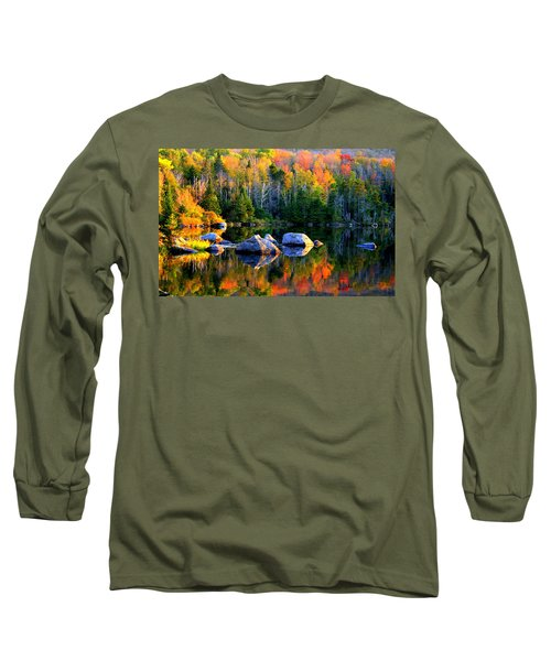 'autumn Reflections - Noyes Pond' Long Sleeve T-Shirt