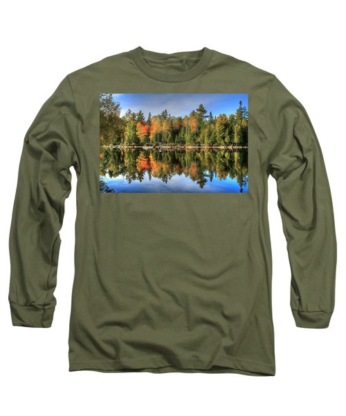 Long Sleeve T-Shirt featuring the photograph Autumn Reflections Of Maine by Shelley Neff