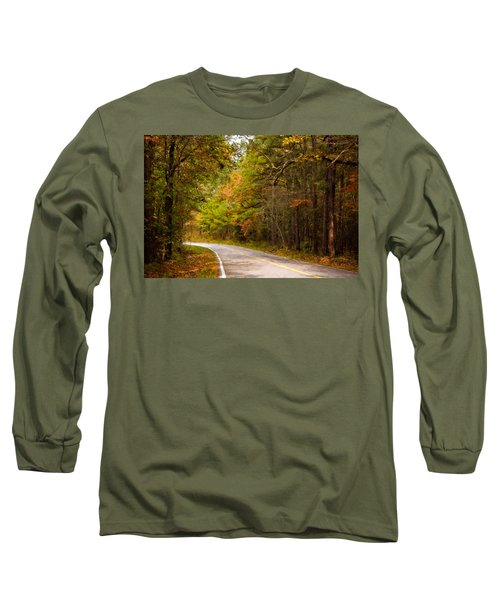 Long Sleeve T-Shirt featuring the photograph Autumn Road by Lana Trussell