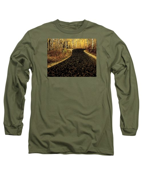 Long Sleeve T-Shirt featuring the photograph Autumn Road by Scott Read