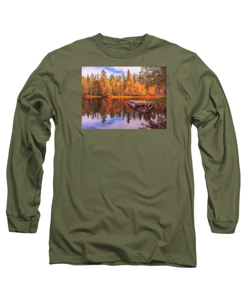 Long Sleeve T-Shirt featuring the photograph Autumn Season  by Rose-Maries Pictures