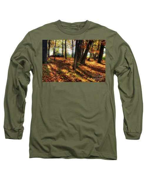 Long Sleeve T-Shirt featuring the photograph Autumn Shadows In The Blue Ridge by Dan Carmichael