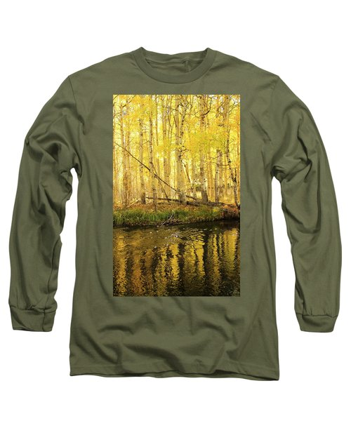 Autumn Soft Light In Stream Long Sleeve T-Shirt