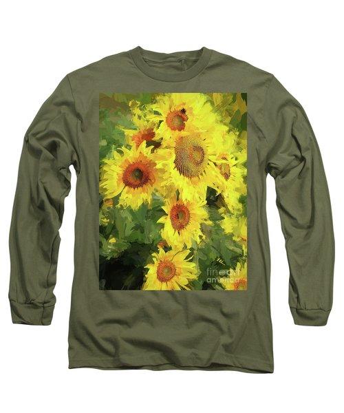 Autumn Sunflowers Long Sleeve T-Shirt