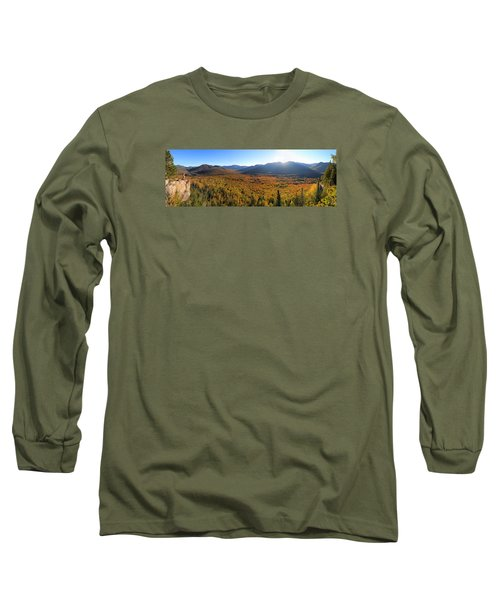 Autumn Sunset Over The Pemi Long Sleeve T-Shirt