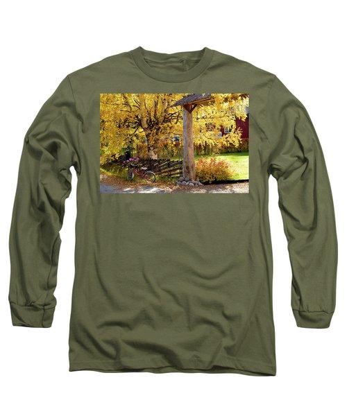 Rural Rustic Autumn Long Sleeve T-Shirt by Tamara Sushko