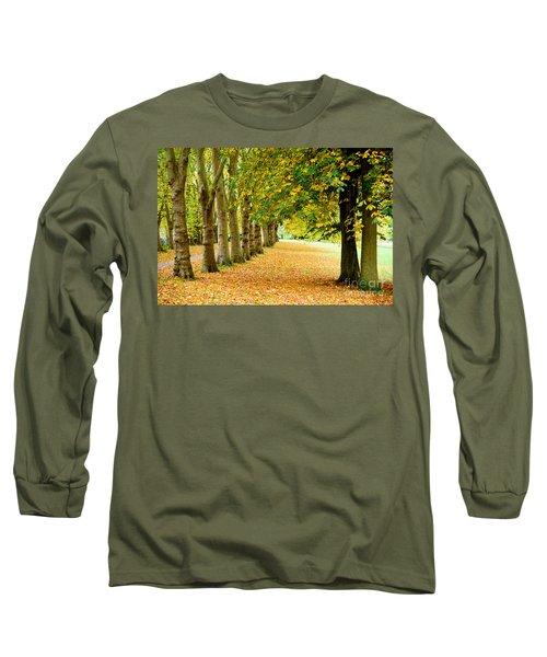 Autumn Walk Long Sleeve T-Shirt by Colin Rayner