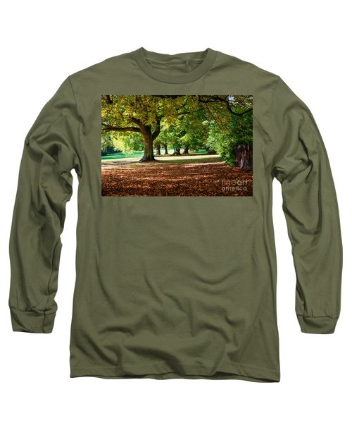 Autumn Walk In The Park Long Sleeve T-Shirt by Colin Rayner