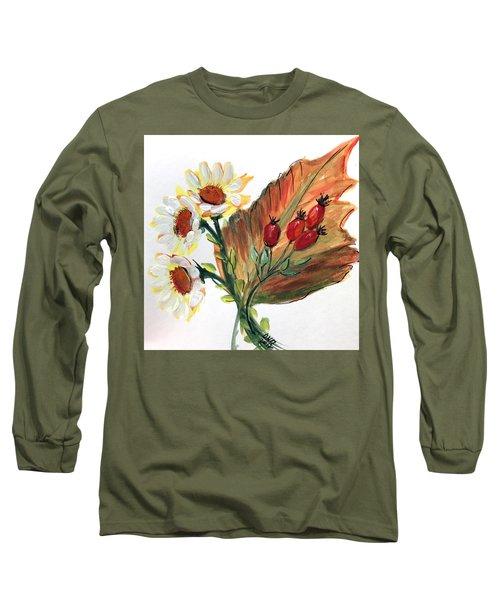 Autumn Wild Flowers Bouquet Long Sleeve T-Shirt
