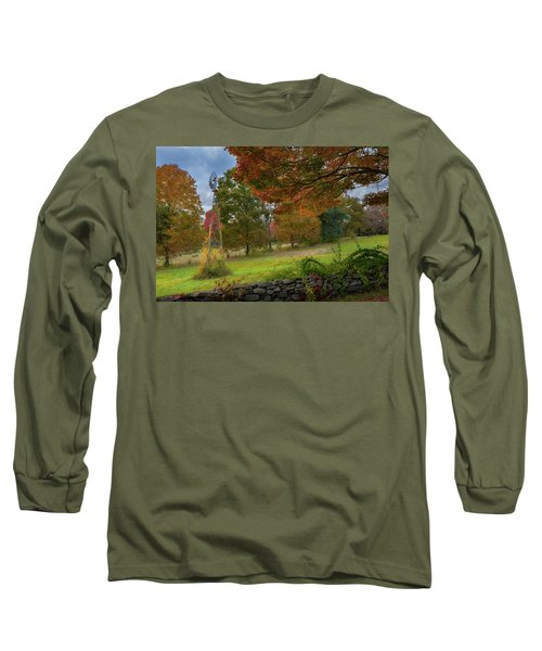 Long Sleeve T-Shirt featuring the photograph Autumn Windmill by Bill Wakeley