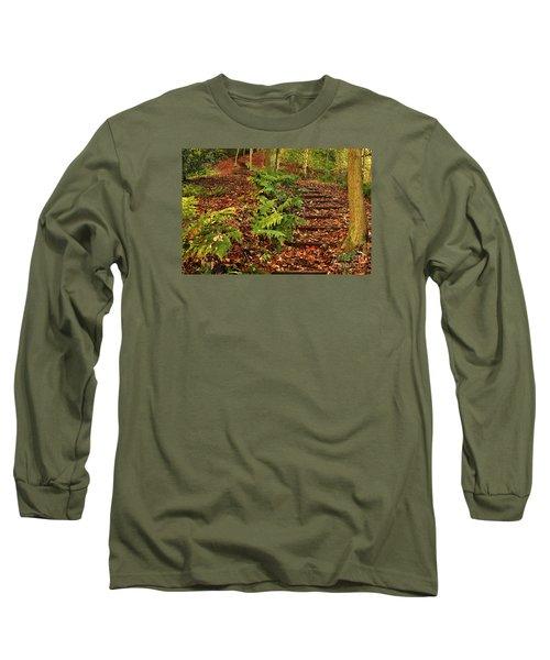 Autumn Woodland Path Long Sleeve T-Shirt