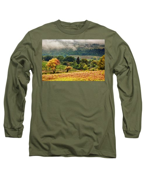 Autumnal Hills Long Sleeve T-Shirt by Silvia Ganora
