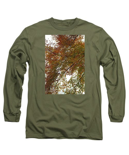 Long Sleeve T-Shirt featuring the photograph Autumn's Abstract by Deborah  Crew-Johnson