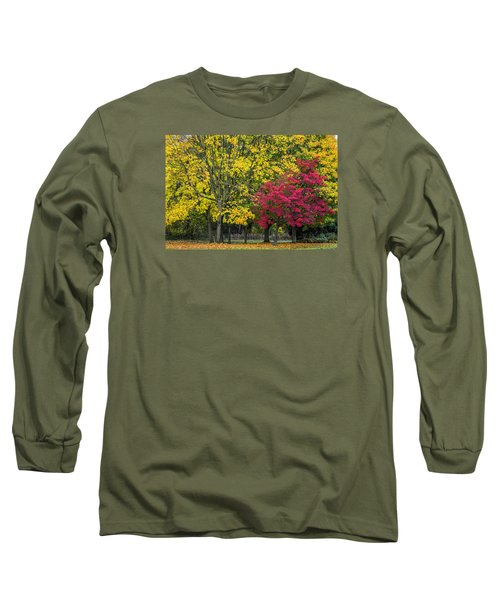 Autumn's Peak Long Sleeve T-Shirt by Jeremy Lavender Photography