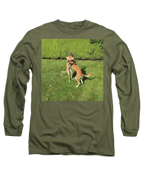 Ava The Saluki And Finly The Lurcher Long Sleeve T-Shirt