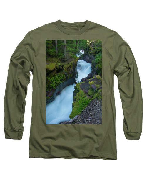 Long Sleeve T-Shirt featuring the photograph Avalanche Gorge 6 by Gary Lengyel