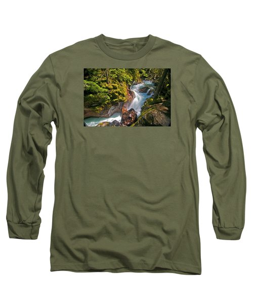 Long Sleeve T-Shirt featuring the photograph Avalanche Gorge by Gary Lengyel