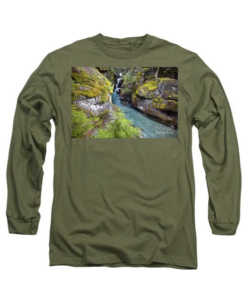Avalanche Gorge In Glacier National Park Long Sleeve T-Shirt