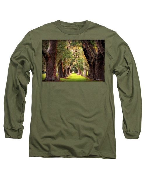 Avenue Of Oaks Sea Island Golf Club St Simons Island Georgia Art Long Sleeve T-Shirt by Reid Callaway