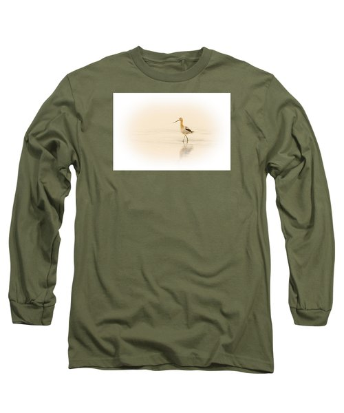 Long Sleeve T-Shirt featuring the photograph Avocet Walk by Yeates Photography